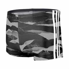 Adidas 3 Stripes Fit Graphic AOP Boxer Zwembroek