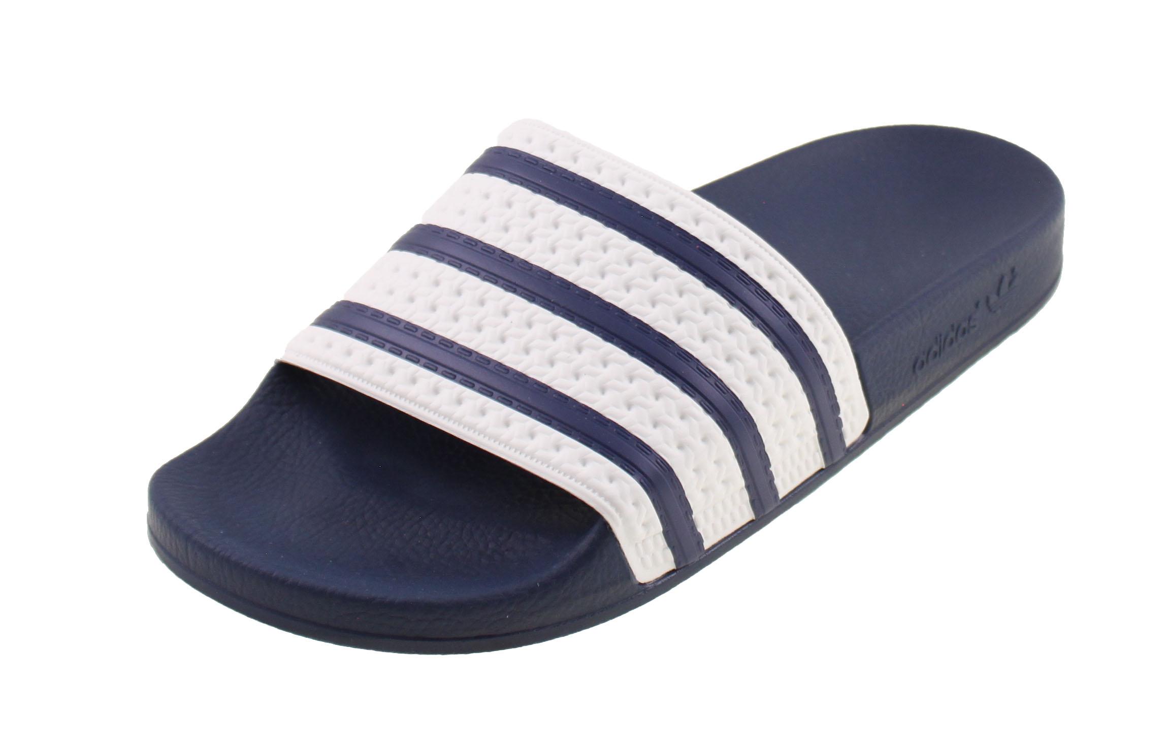 adidas originals slippers wit