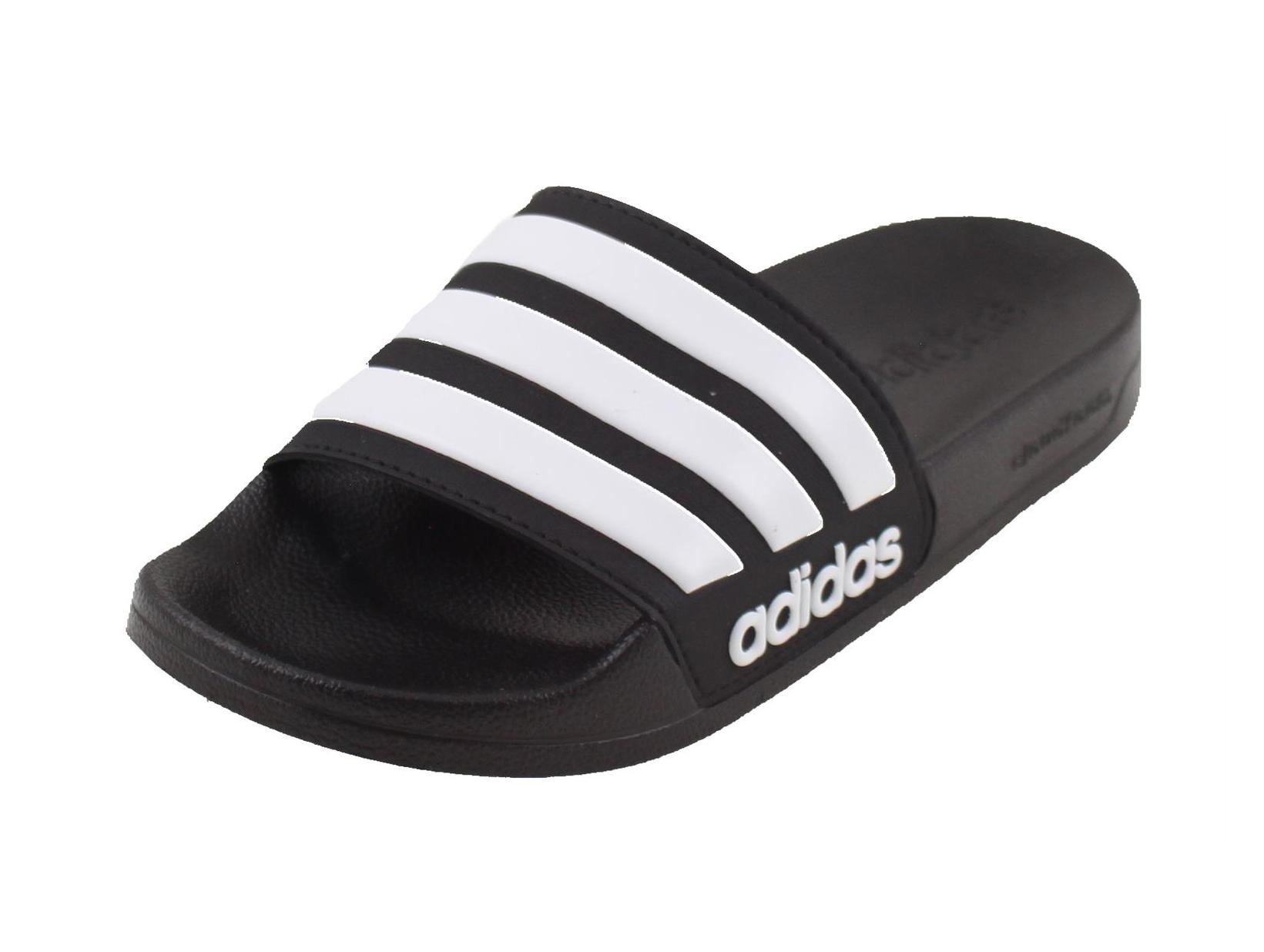 b4f9bb33ff7 Adidas Adilette Cloudfoam Badslipper ZWART/WIT online kopen bij ...