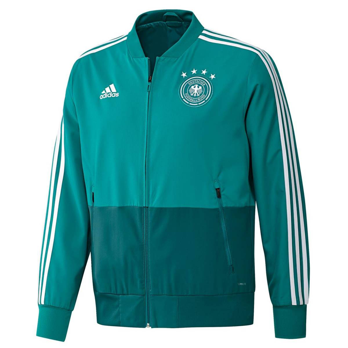 6e4bc8335cf Adidas Duitsland Trainingsjack. CE6588 Turquoise Eqt Green White Real Teal