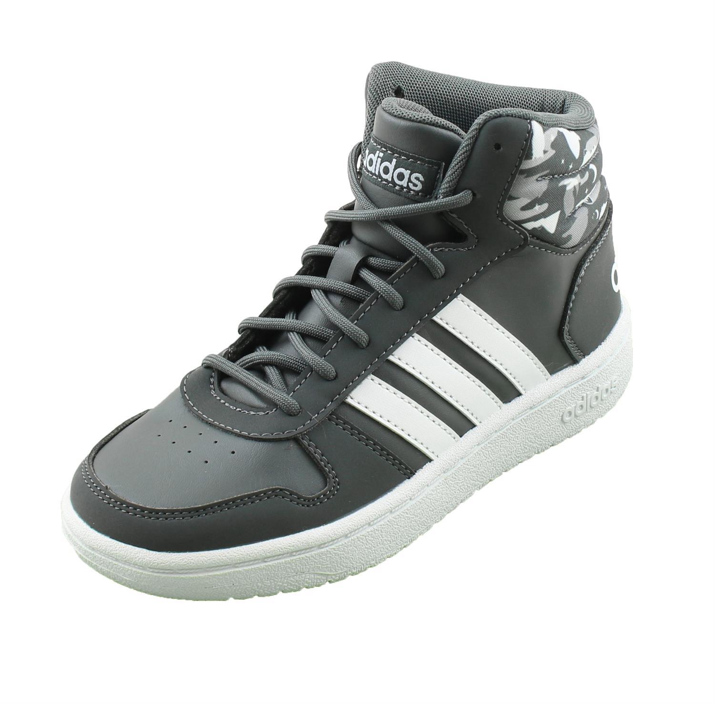 Adidas Hoops Mid 2.0 junior schoenen zwart