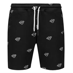 Black Bananas All over Transformer Monkey Logo Short