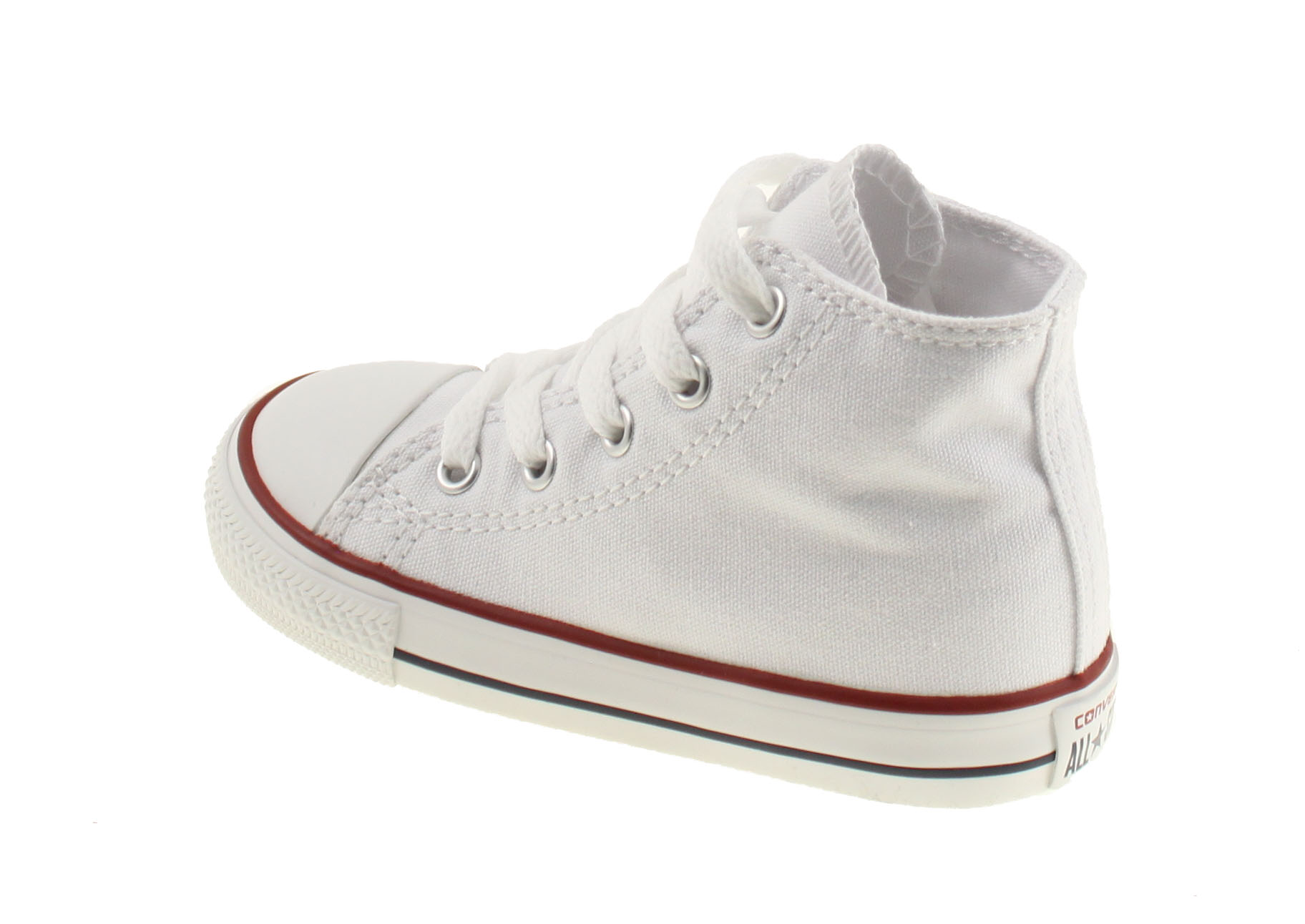 Converse All Star High Wit Baby Peuter. 7J253. Product afbeelding Product  afbeelding Product afbeelding Product afbeelding