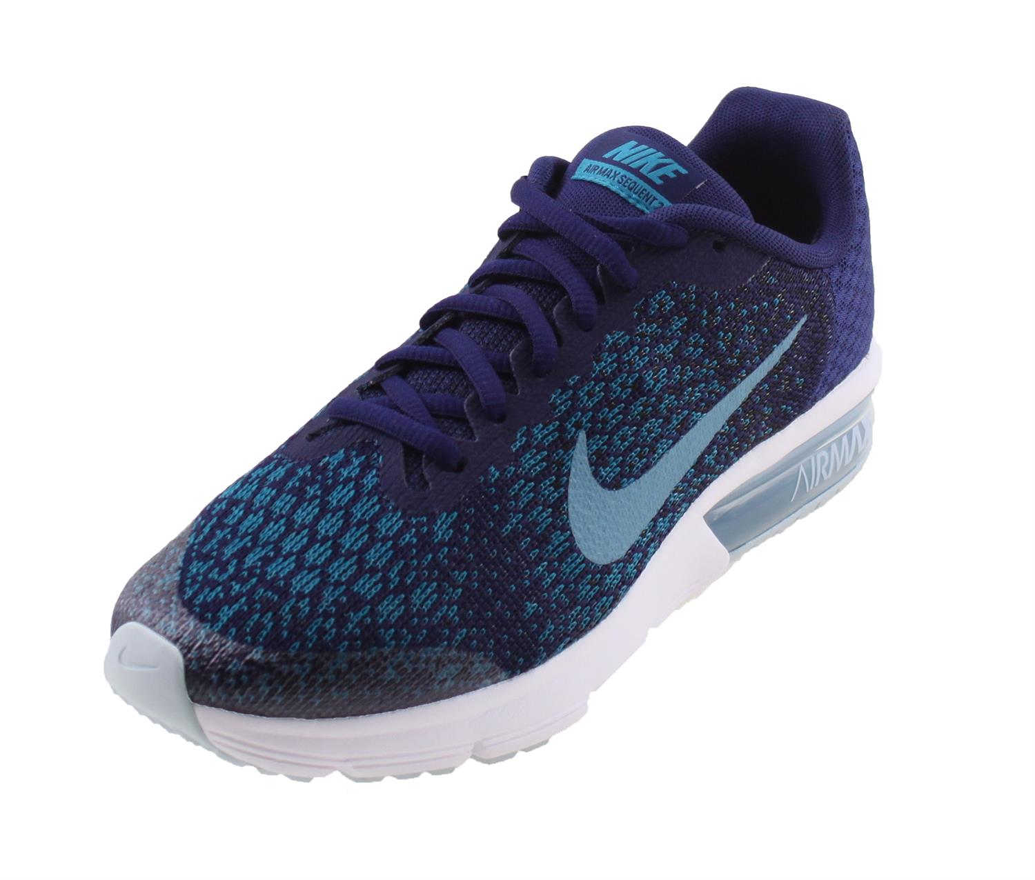 nike air max sequent junior blauw