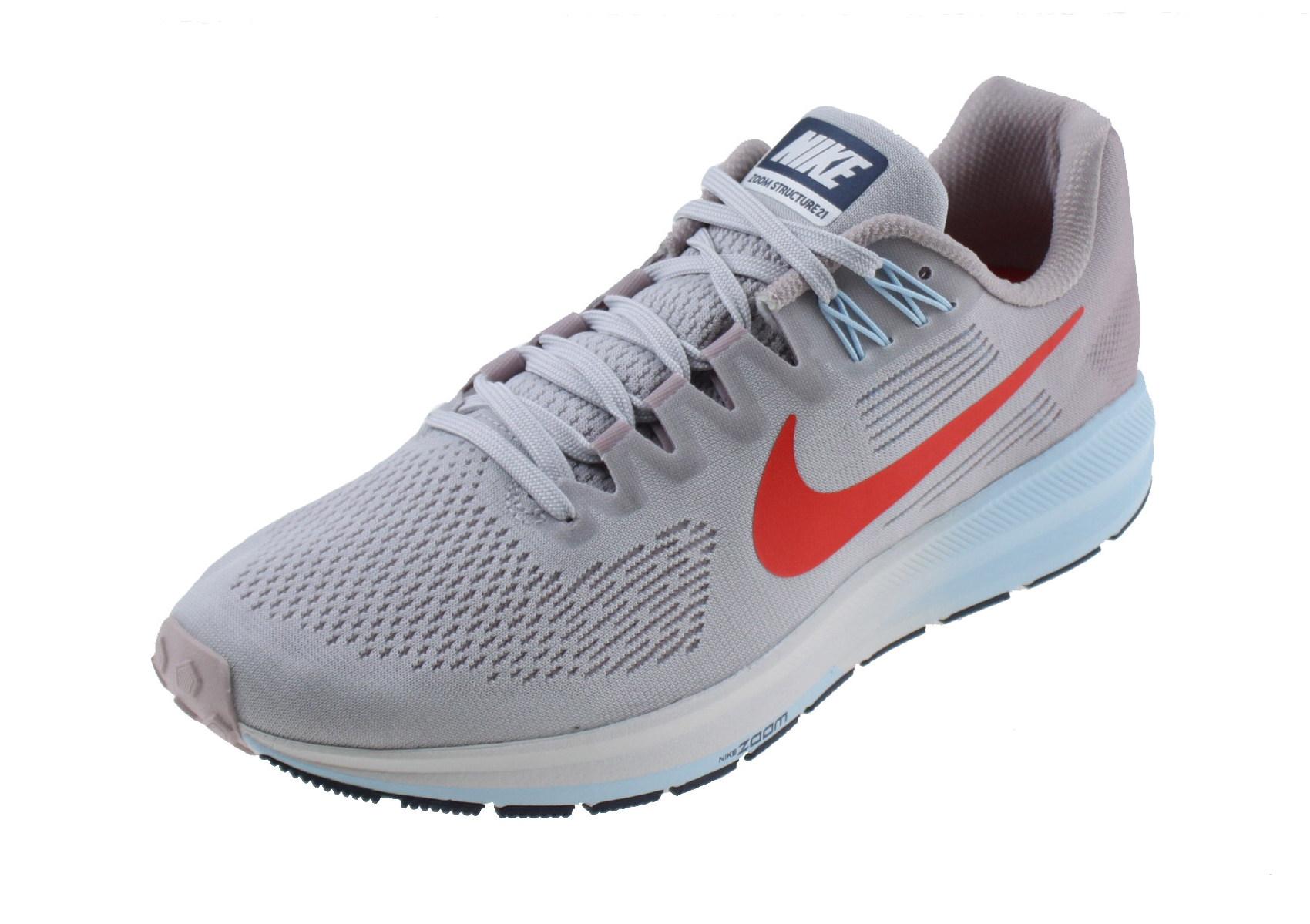 4ab294fd2f0 Nike Air Zoom Structure 21 Dames Hardloopschoen. 904701 006 Vast Grey/Elemental  Rose Cobalt Tint Habanero Red
