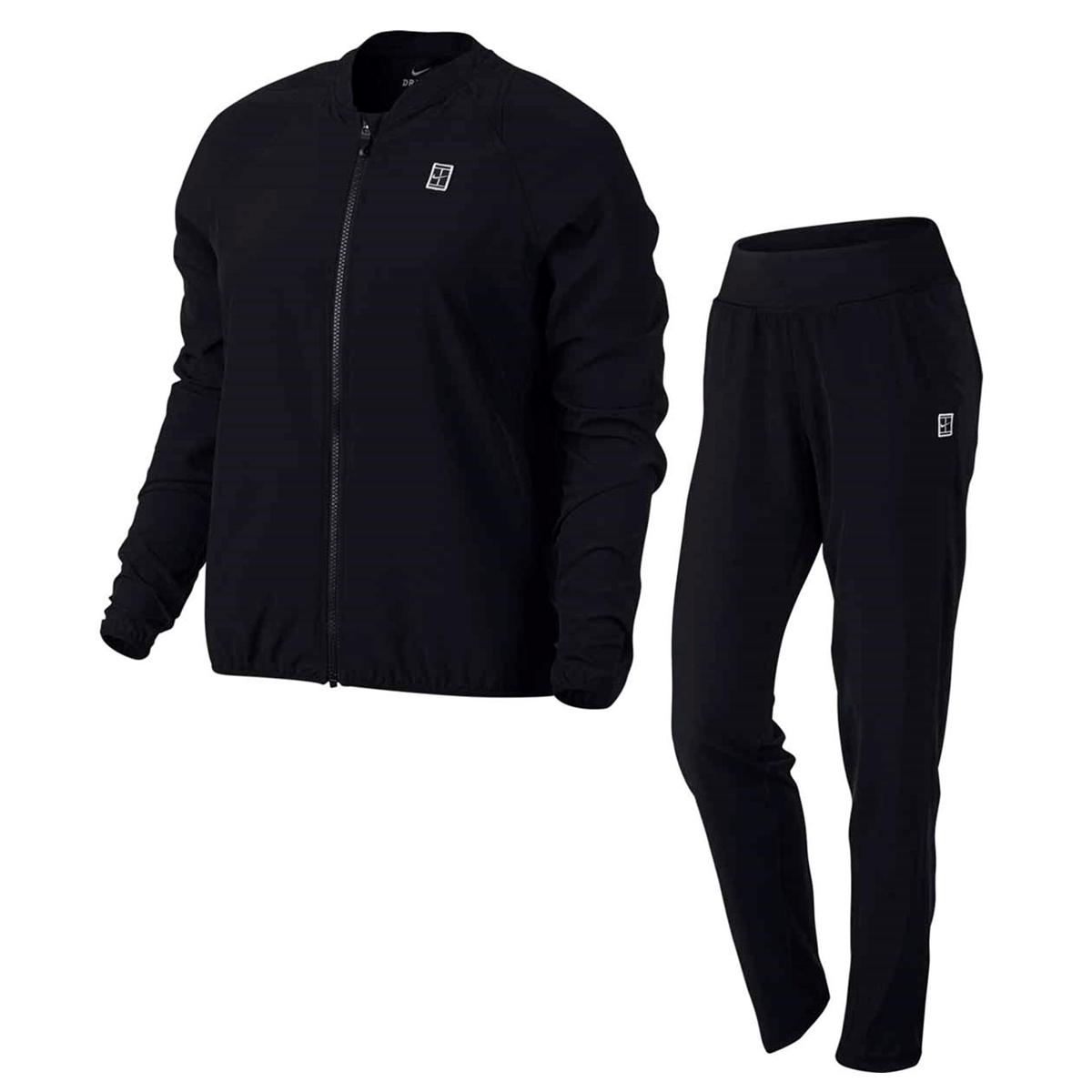 1d4ca5d787c Nike Court Woven Warm Up Tennis Trainingspak ZWART/WIT online kopen ...