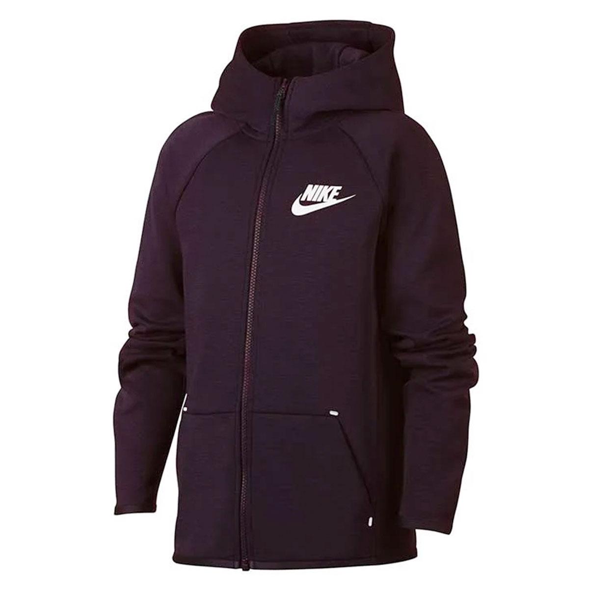 85f80fe6b4aa Nike Essentials Tech Fleece Full Zip Hoodie Junior ROOD online kopen ...
