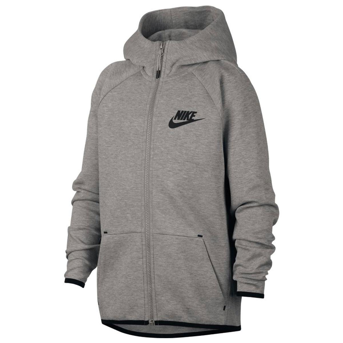 f7261af88f7d Nike Essentials Tech Fleece Full Zip Hoodie Junior GRIJS online ...
