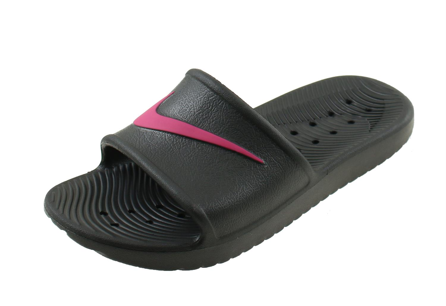 wholesale dealer 1d084 fd0ac Nike Kawa Shower Badslippers Junior. AQ0899 002 Black Rush Pink