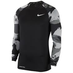 Nike M NP TOP LS SLIM CAMO 1,BLACK/WHITE