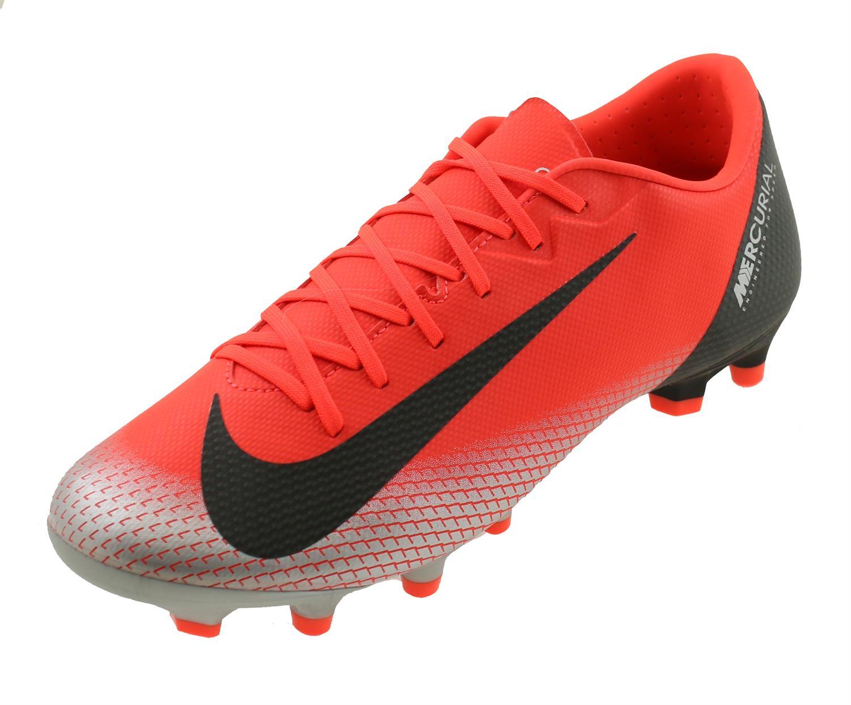 0f64c3349 Nike Mercurial Vapor XII Academy CR7 FG MG. AJ3721 600 Bright Crimson Black  Chrome