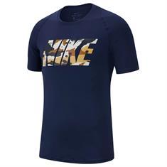 Nike Pro Fitted 2L Camo Shirt Korte Mouw