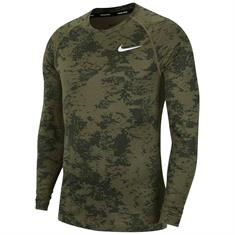 Nike Pro Long Sleeve Camo Top