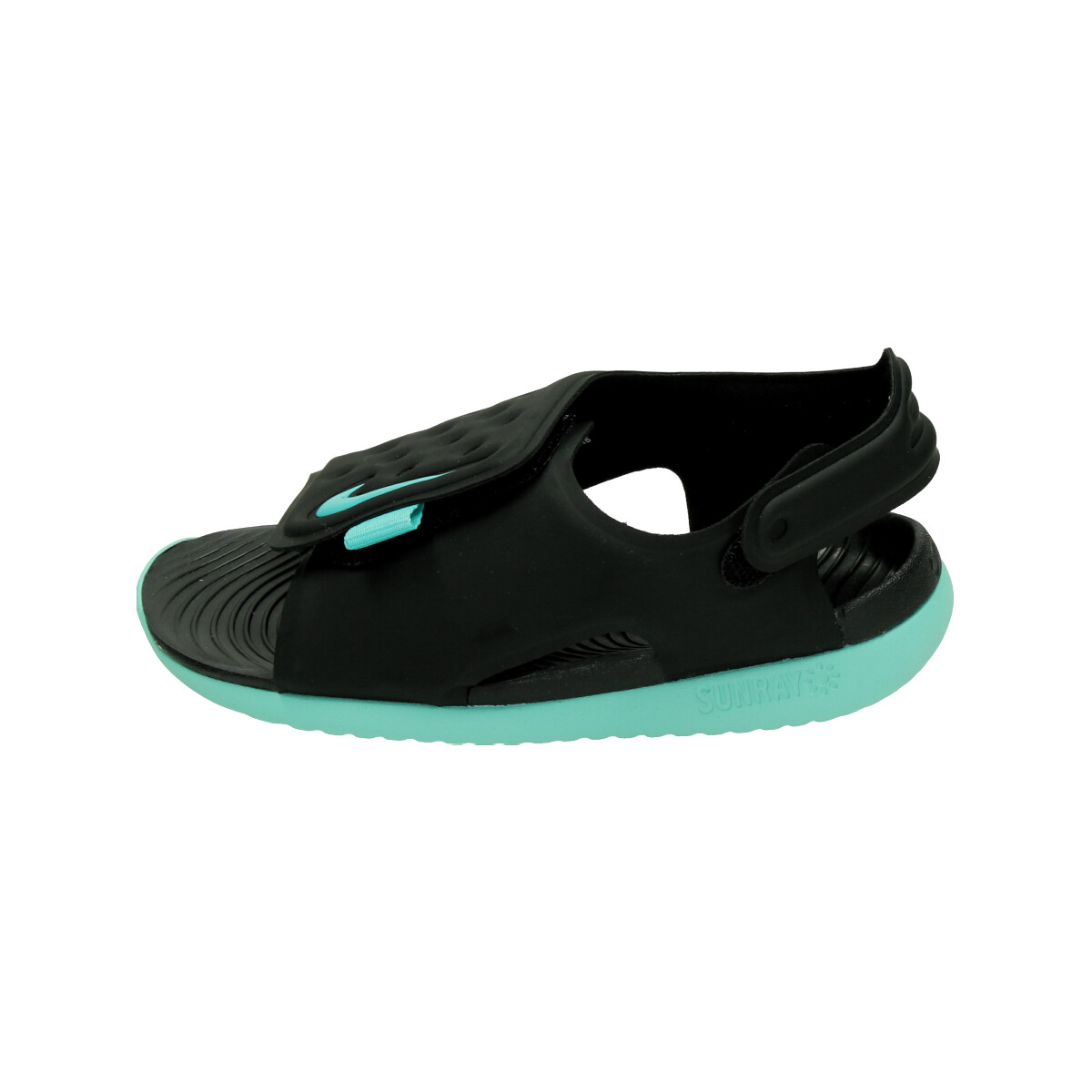 23f77ad10ce Nike Sunray Adjust 5 Peuter sandalen. AJ9077 004 Black Hyper Jade Tropical.  Product afbeelding Product afbeelding ...