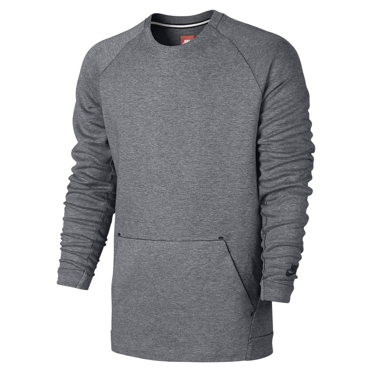Nike Tech Fleece Crew Sweater GRIJS online kopen bij Sportpaleis.