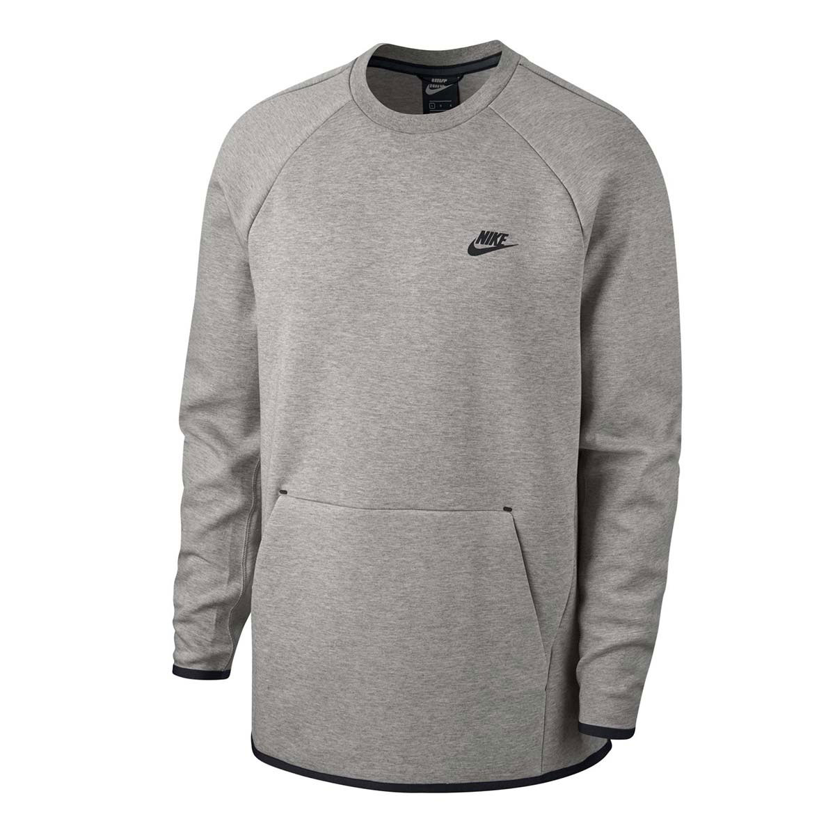 ac422cb7a6b Nike Tech Fleece Crew Sweater. 928471 063 Dark Grey Heather Black
