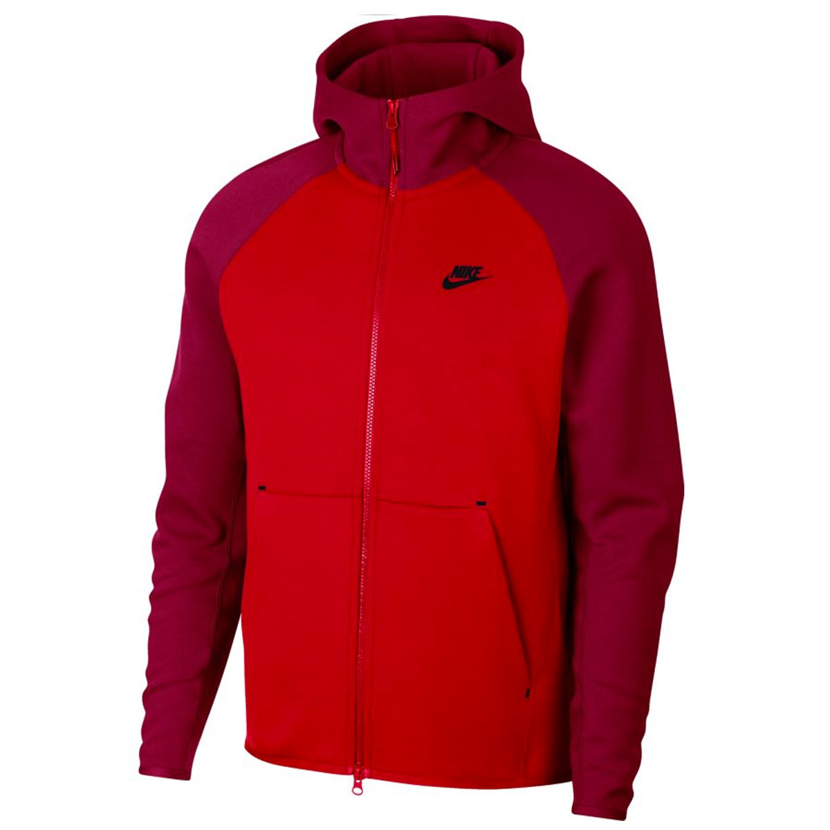 0b7ff2f8910e Nike Tech Fleece Full Zip hoodie. 928483 657 University Red Team Red Black