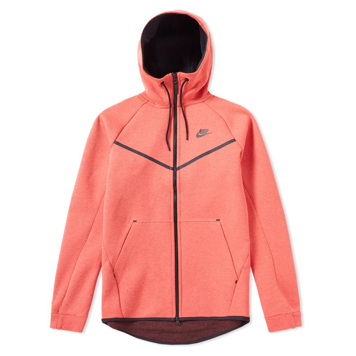 d6d58a30830b Nike Tech Fleece Windrunner Full zip Hoodie ROOD online kopen bij ...