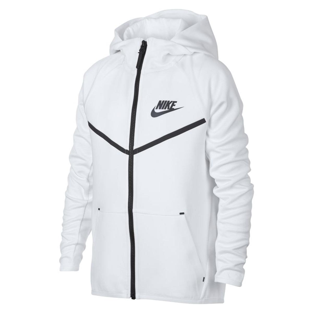 Bij Tech Full Online Kopen Wit Zip Nike Fleece Windrunner Hoodie VUzMpqS