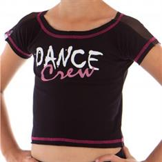 Papillon Crop Wide Dance Crew T-Shirt Junior