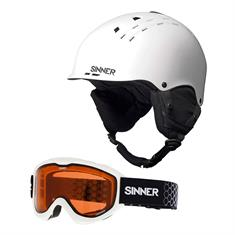 Sinner Combi-Pack Pincher Skihelm met Lakeridge Skibril