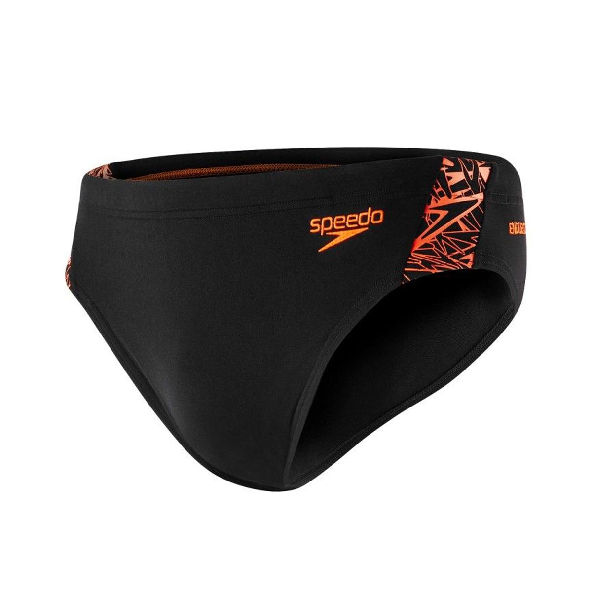 Speedo Zwembroek.Speedo Boom Splice Endurance Brief Zwembroek Zwart Oranje Online